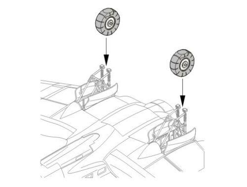 CMK Heinkel He 111H - wheels for HAS/REV 1:72 (Q72021)