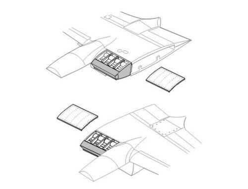 CMK Mosquito MK.IV/VI - oil coolers - for HAS 1:72 (Q72024)