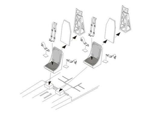 CMK B-17 Flying Fortress Seats 1:72 (Q72175)