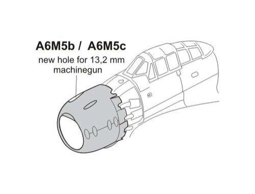 CMK A6M5b/c Zero - Cowling with 13,2mm Machinegun 1:72 (Q72188)