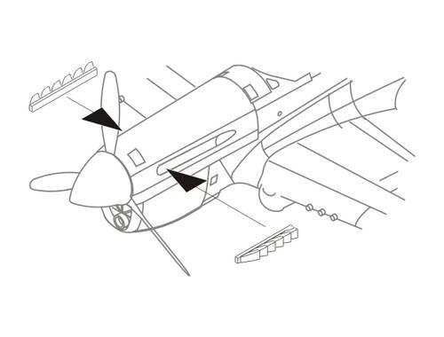 CMK P-40E Exhausts for Aca/Airf./Has/Hobby Boss 1:72 (Q72200)