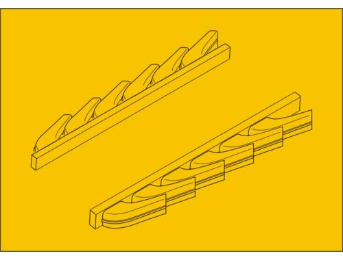 CMK Bf 109G-6 – Exhausts for Airfix kit 1:72 (Q72205)