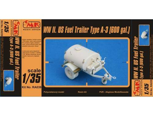 CMK WW II.Fuel Trailer Type A-3 (600 gal.) 1:35 (RA039)