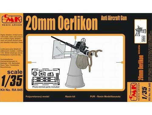 CMK 20mm Oerlikon AA Gun Full resin kit 1:35 (RA045)