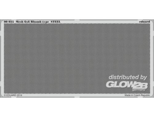 Eduard Mesh 6x6 Rhomb type STEEL (00025)