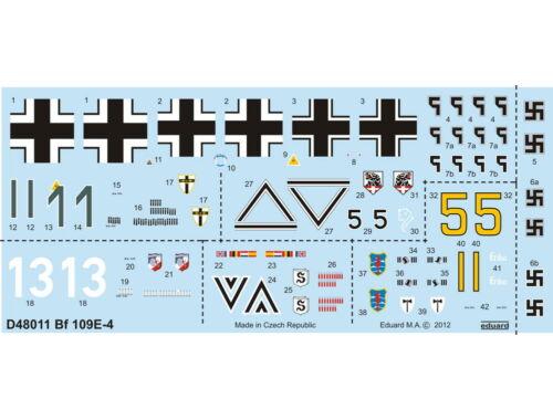 Eduard Bf 109E-4 for EDUARD 1:48 (D48011)