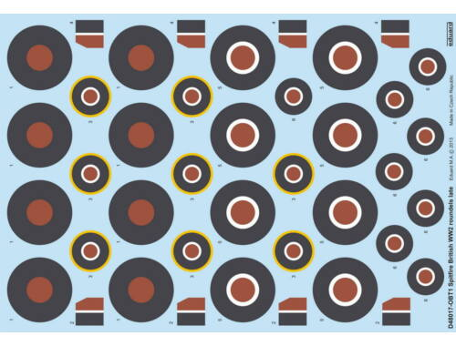 Eduard Spitfire British WWII Roundels Late 1:48 (D48017)