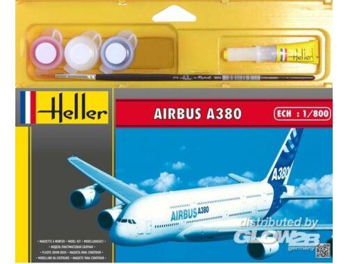 "Heller Starter Set Airbus A380 ""Premier Vol"" 1:800 (49075)"