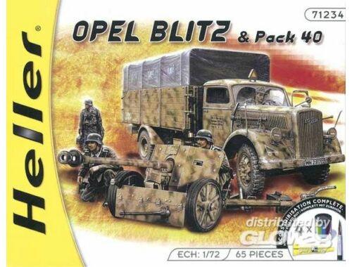 Heller Opel Blitz   Pak 40 Kit 1:72 (49994)