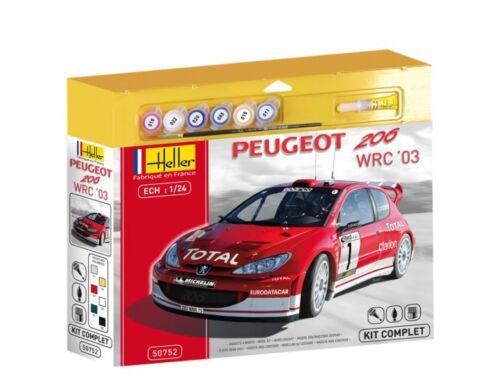 Heller Starter Set Peugeot 206 WRC 2003 Kit 1:24 (50752)