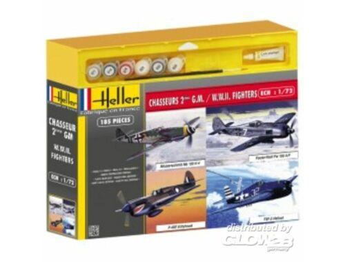 Heller Chasseurs 2eme Guerre Mondiale (4 modele 1:72 (53002)
