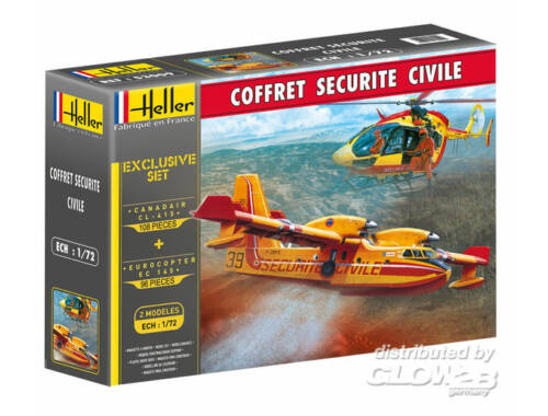Heller Model Set Coffret Securite Civile (2 Modeles) 1:72 (53009)
