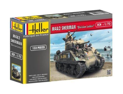 """Heller M4A2 Sherman """"Division Leclerc"""" (deco.FR 1:72 (79894)"""