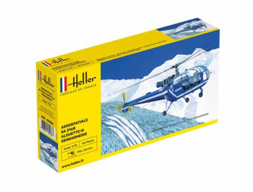 Heller Aerospatiale SA 316 Alouette III Gendarmerie 1:72 (80286)
