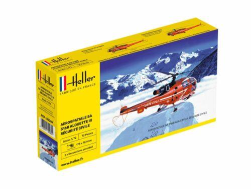 Heller Aerospatiale Alouette III Sécurité Civile 1:72 (80289)