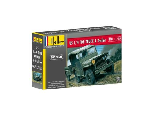 Heller Jeep Willis   Trailer 1:35 (81105)