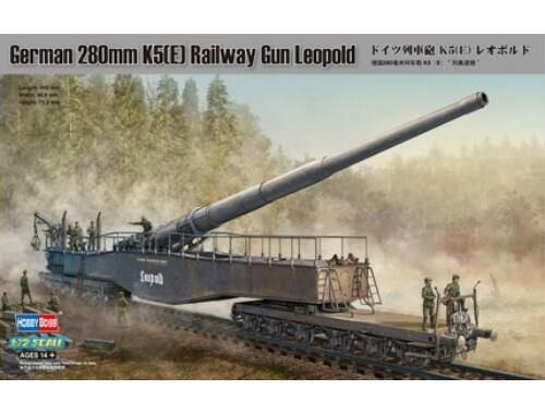Hobby Boss German 280mm K5(E) Railway Gun Leopold 1:72 (82903)