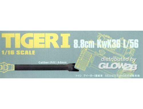 Hobby Fan Tigeri 8.8cm KwK36 L/56 Caliber: 6mm 1:16 (HF026)