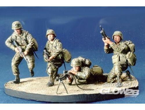 Hobby Fan R.O.C. Marine Team- 4 Figures with Base 1:35 (HF512)