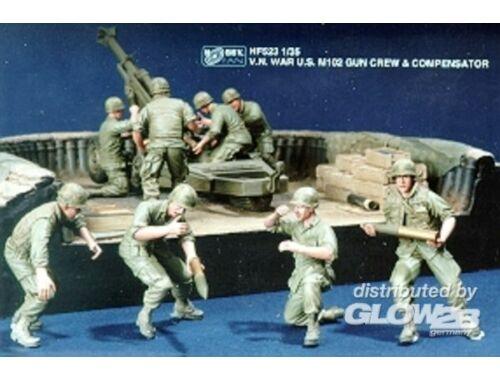 Hobby Fan V.N. War U.S. M102 Gun Crew   Compensat. 1:35 (HF523)