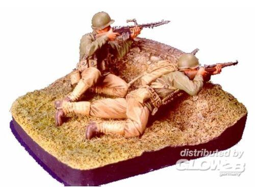 Hobby Fan WWII U.S. Infantry(2) - 2 Figures w/base 1:35 (HF527)