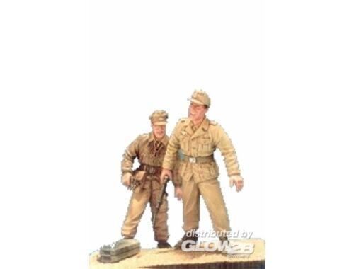 Hobby Fan Sd.Kfz.11 Crew(3) Afrikakorps- 2Fig.w/B 1:35 (HF536)