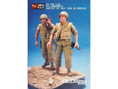 Hobby Fan U.S. Marines Battle of Hue 1968(5)w/Base 1:35 (HF542)