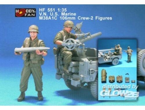 Hobby Fan V.N. U.S. Marine M38A1C 106mm Crew-2 Fig 1:35 (HF551)