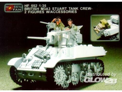 Hobby Fan Brit. M3A3 Stuart tank crew- 2F. w/Acc. 1:35 (HF552)