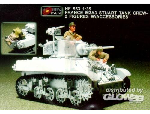 Hobby Fan France M3A3 Stuart Tank crew/2fig.w/acc. 1:35 (HF553)