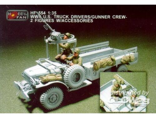 Hobby Fan WWII U.S. Truck Drivers/Gunner crew/2fig 1:35 (HF554)