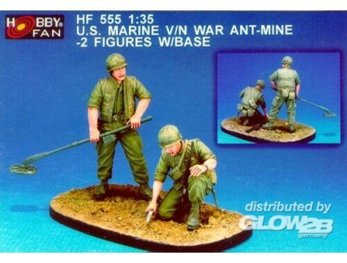 Hobby Fan U.S. Marine V/N War Ant-Mine-2Fig.w/Base 1:35 (HF555)