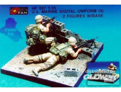 Hobby Fan U.S. Marine Digital Unif.(II)- 2 Fig.w/B 1:35 (HF557)