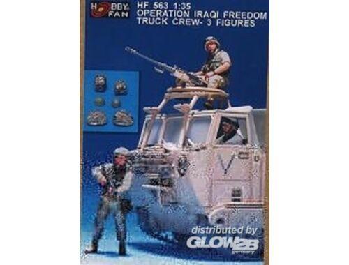 Hobby Fan Operation Iraqi freedom truck Crew- 3Fig 1:35 (HF563)