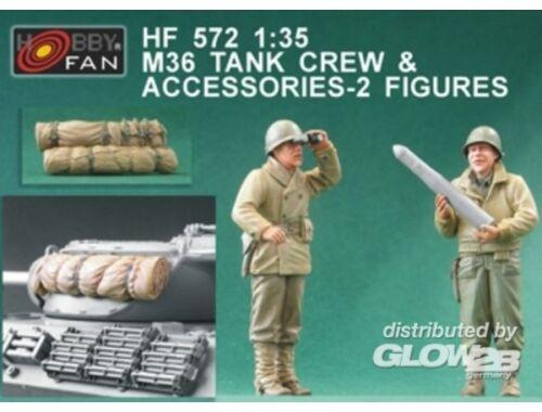 Hobby Fan M36 Tank Crew   Accessories-2 Figures 1:35 (HF572)