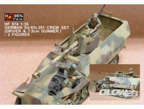 Hobby Fan German Sd.Kfz.251 Crew (7.5cm)- 2 Fig. 1:35 (HF574)