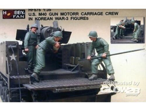 Hobby Fan U.S. M40 Gun Motor Carri. in Kor.W./3Fig 1:35 (HF575)
