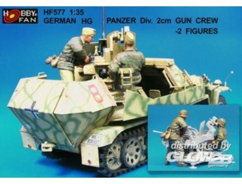 Hobby Fan German HG Panzer Div.2cm Gun Crew- 2 Fig 1:35 (HF577)