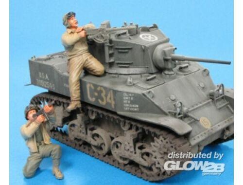 Hobby Fan U.S. M5A1 Tank Crew   Sandbags- 2 Fig. 1:35 (HF582)