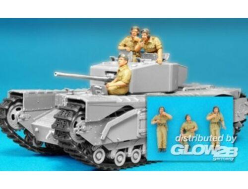 Hobby Fan British Churchill Tank crew alamein/3fig 1:35 (HF584)