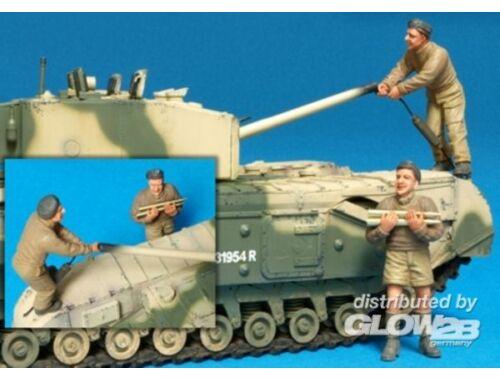 Hobby Fan Brit. Churchill Tank Crew (III)Ala./2Fig 1:35 (HF587)