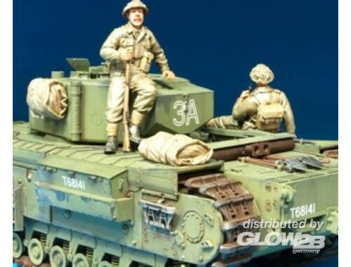 Hobby Fan Brit. Infan. riding w/Churchill Tank /2F 1:35 (HF592)