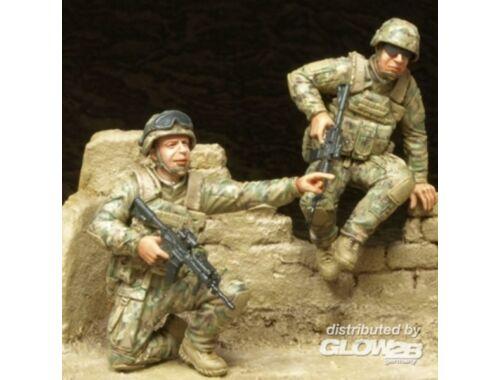 """Hobby Fan U.S. Ranger (II) """"OIF"""" ISAF- 2Fig.w/Base 1:35 (HF596)"""