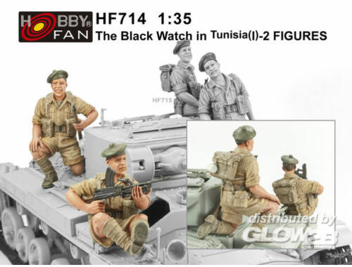 Hobby Fan The Black Watch in Tunisia(1)-2 Figures 1:35 (HF714)