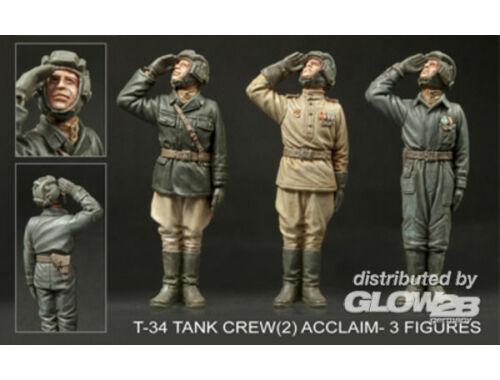 Hobby Fan T-34 Tank Crew(2) Acclaim (3 figures) 1:35 (HF719)