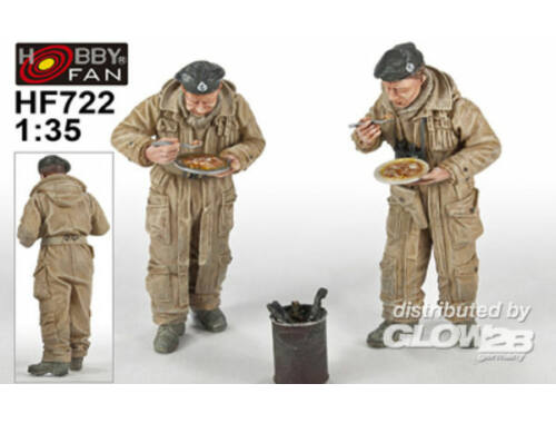 """Hobby Fan British Tank Crew""""Meals for victory""""2Fig 1:35 (HF722)"""