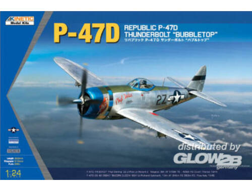 Kinetic P-47D Thunderbolt Bubble Top 1:24 (3207)