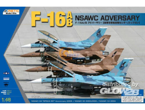 Kinetic F-16A/B NSAWC Adversary 1:48 (48004)