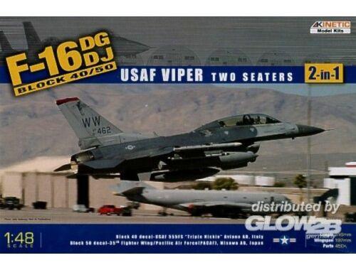 Kinetic F-16DG/DJ Block 40/50 USAF Viper 1:48 (48005)