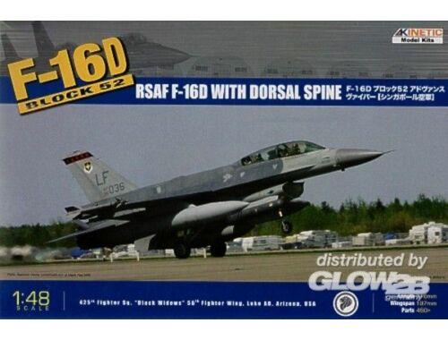 Kinetic F-16D Block 52   RSAF 1:48 (48007)